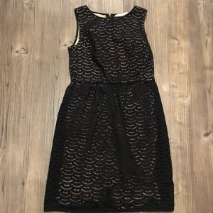 LOFT Dresses - LOFT size 2 black eyelet laser cut dress